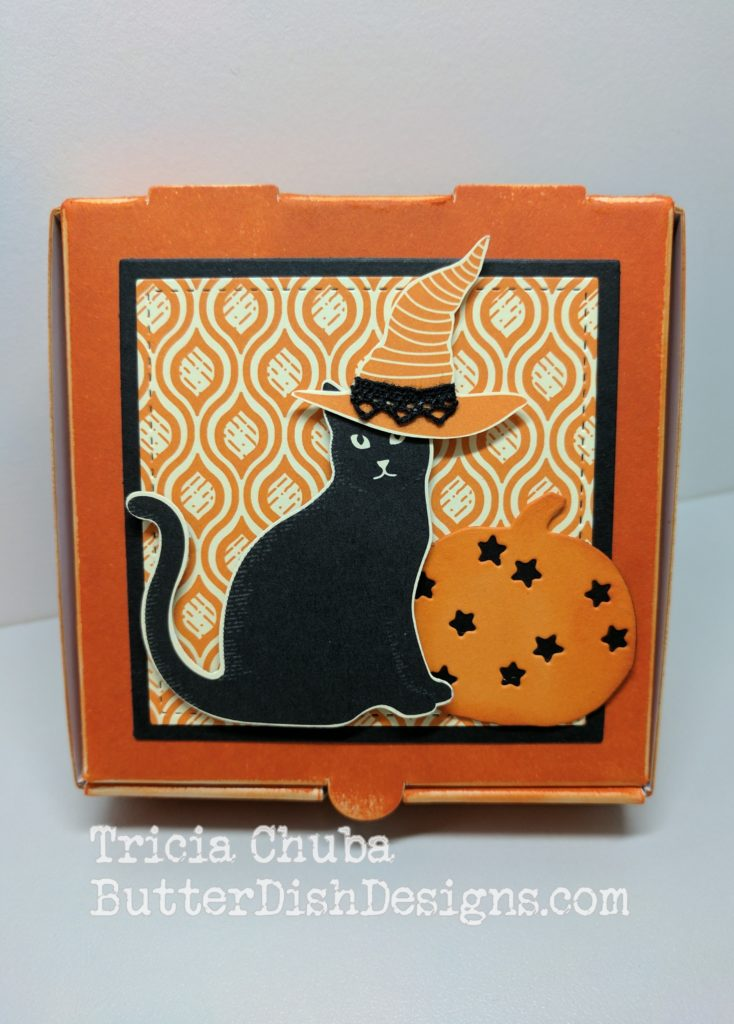 ButterDishDesigns - Black Cat Pizza Box