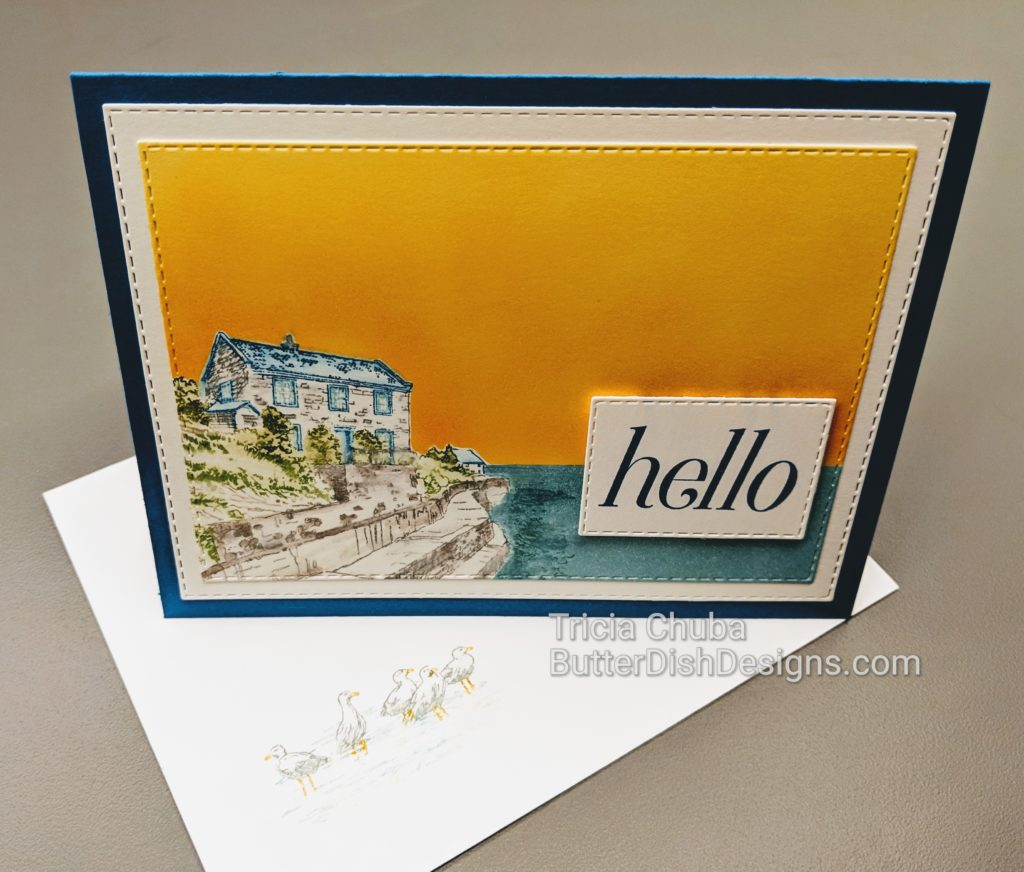 butterdishdesigns.com Pals Blog Hop - By the Bay Hello Card